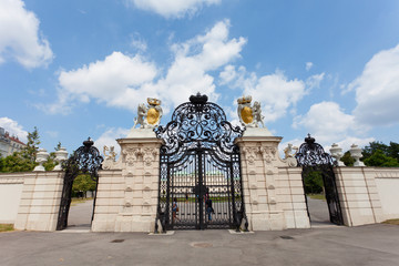 forged gate for an entrance to Belvedere park, Vienna