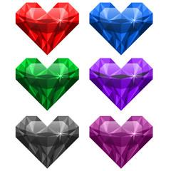 драгоценные камни сердце