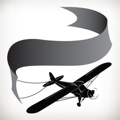 plane ribbon in silhouette 0099