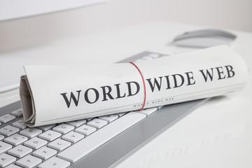world wide web auf zeitung