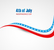 abstract 4th of july beautiful background wave vector design