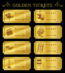 Golden Vector Cinema Tickets
