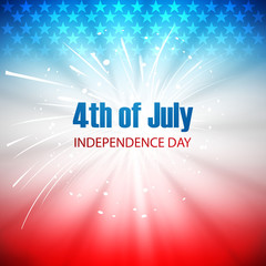 Vector background for 4th of July American independence day