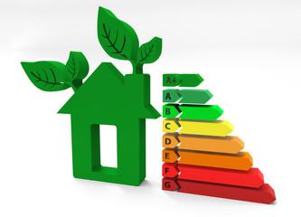 Casa ecologica con scala energetica