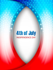 Vector 4th of july independence day creative wave background