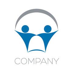 логотип страхование и люди