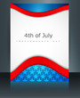 4th of july american independence day flag celebration template
