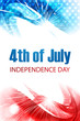 vector independence day for 4th of july stylish wave background