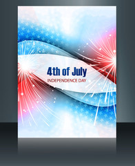4th july american independence day brochure template celebratio