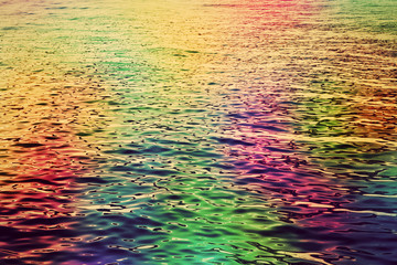 Colorful water ripples in the sea. Abstract hd background