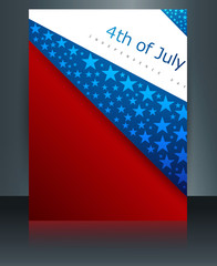 Vector illustration 4th of july american independence day brochu