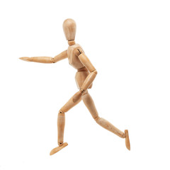 Running wood man model