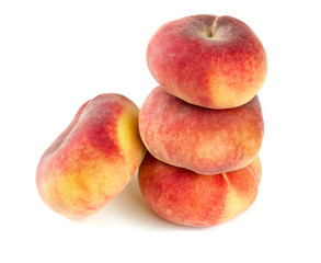 donut peaches isolated on white