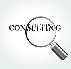 Vector consulting concept illustration