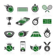 Tennis icon set