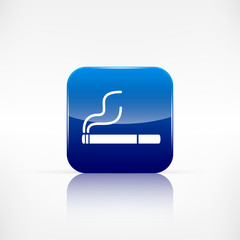 Smoking sign. cigarette icon.