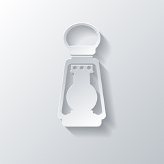 Retro oil lamp icon
