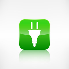 electric plug icon. electric fork symbol