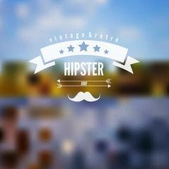 Abstract defocused, blurred landscape background with hipster