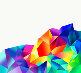 spectrum crystal abstract