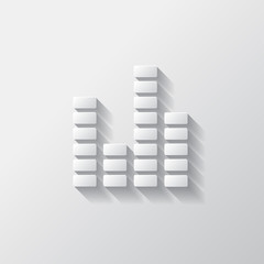Equalizer icon. Music sound wave symbol