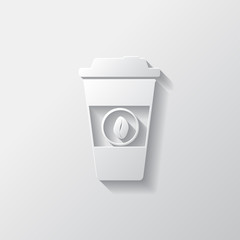 Takeaway paper coffee cup icon