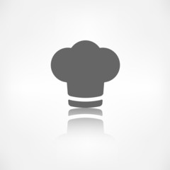 Chef cap icon. Cooking cap