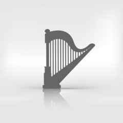 Harp icon. Music instruments