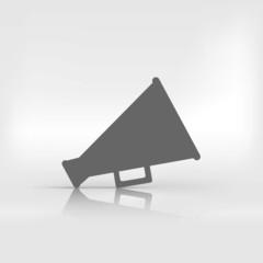 Megaphone, loudspeaker icon. Loud-hailer symbol