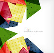 Geometric shape abstract futuristic background