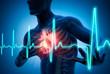 Leinwanddruck Bild - Herzinfarkt