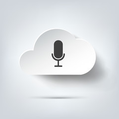 Microphone icon. Voice recording