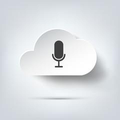 Microphone icon. Voice recording