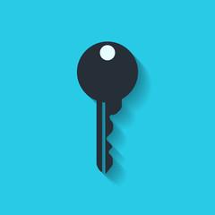 Key icon, door lock symbol
