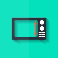 microwave icon. kitchen equipment