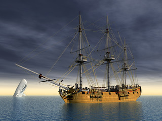 White Whale and Sailing Ship