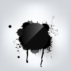 Black abstract geometric background with splash