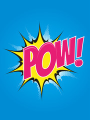 pow pop-art explosion retro poster