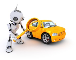 Robot searching for a car