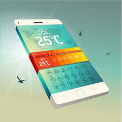 Weather Widget Symbols and Interface Design