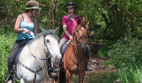 Foto op Canvas Paardensport Ride through the countryside