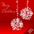 White christmas snowflake balls
