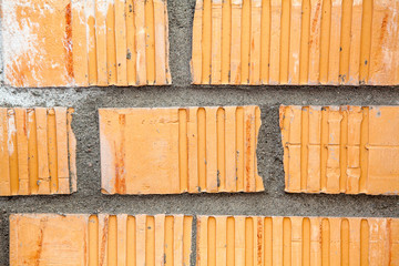 Orange brick wall background