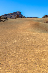 The desert near the Teide volcano in Tenerife