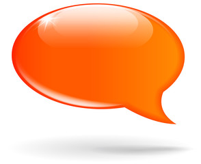 Vector orange speech bubble