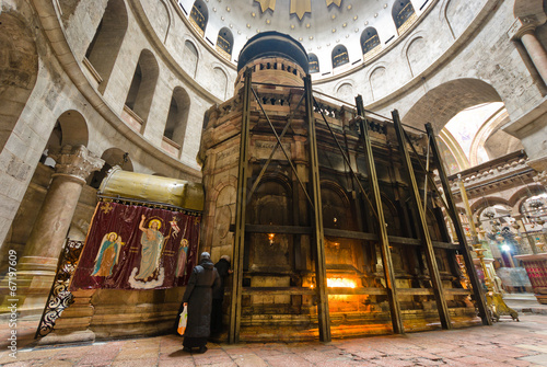 Fotobehang Midden Oosten at the Church of the Holy sepulchre - Jerusalem