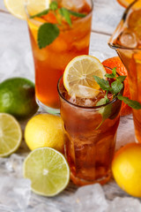 Glasses of ice tea