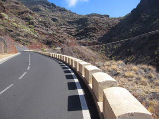 Road in the volcanic mountains of Tenerife