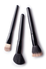 three cosmetic brush