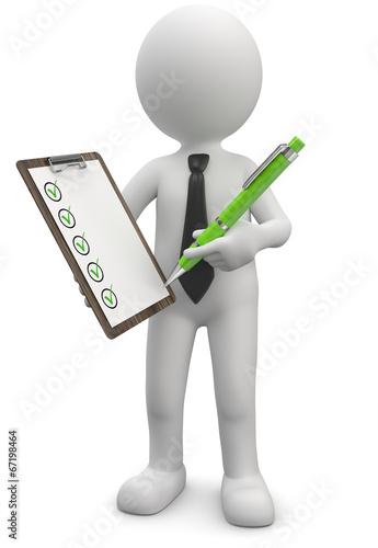 Checkliste abhaken - 67198464